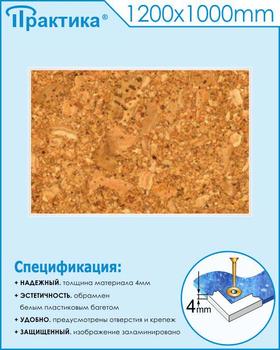 Пробковый стенд (1200х1000 мм, пластик ПВХ 4мм, белый пластиковый багет) - Стенды - Информационные стенды - vektorb.ru