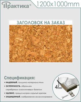 Пробковый стенд  (1200х1000 мм, алюминиевый багет серебряного цвета) - Стенды - Информационные стенды - vektorb.ru