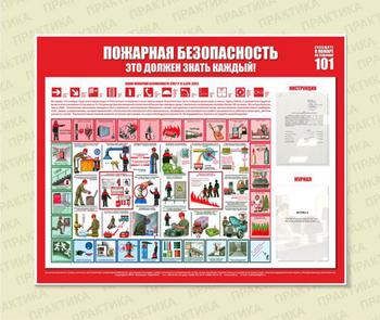 Стенд пожарная безопасность (1200х1000 мм, белый пластиковый багет, карманы) - Стенды - Стенды по пожарной безопасности - vektorb.ru