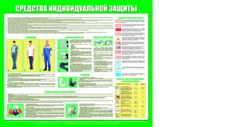 Средства индивидуальной защиты (1200х1000 мм, белый пластиковый багет) - Стенды - Стенды по охране труда - vektorb.ru