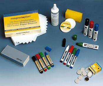 Набор принадлежностей для магнитно-маркерных досок - Стенды - Магнитно-маркерные доски - vektorb.ru