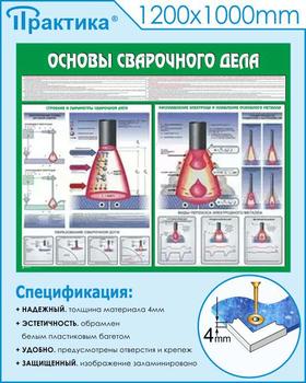 Стенд основы сварочного дела (c35, 1200х1000 мм, пластик ПВХ 4мм, белый пластиковый багет) - Стенды - Тематические стенды - vektorb.ru